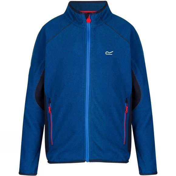 Regatta Boys Pira Full Zip Fleece Jacket Oxford Blue/Navy