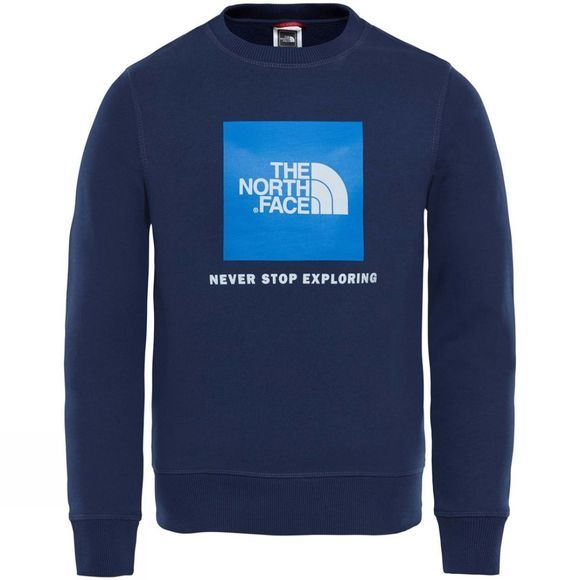The North Face YOUTH BOX DREW PEAK CREW Cosmic Blue / Turkish Sea