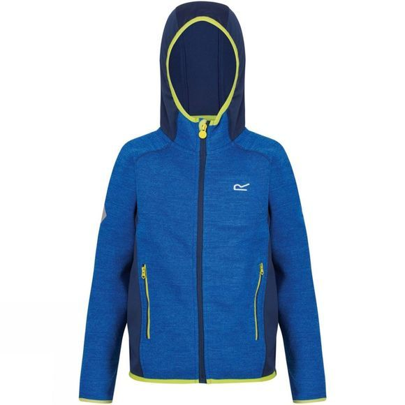 Regatta Kids Dissolver II Full Zip Hooded Fleece Oxford Blue/Prussian