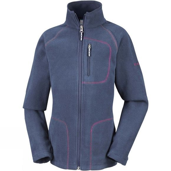 Columbia Kids Fast Trek II Full Zip Nocturnal/Wild Geranium