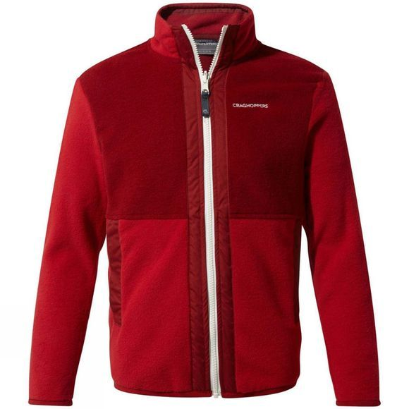 Craghoppers Boys Alvese Jacket Garnet red / Firth Red