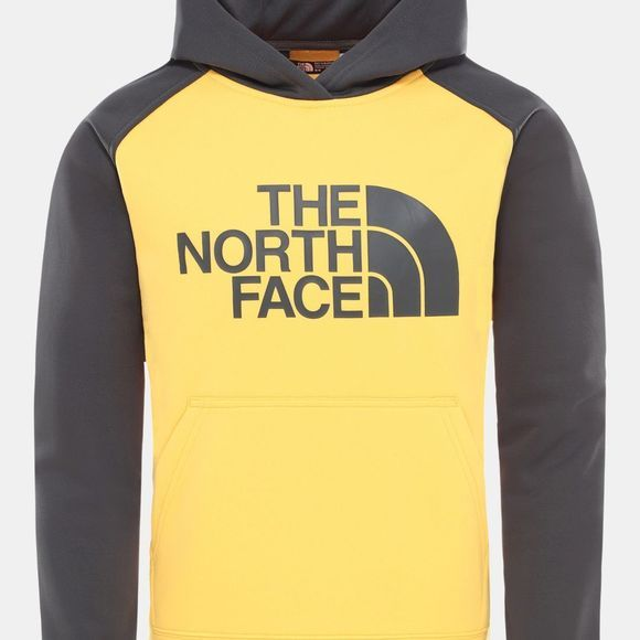 The North Face Boys Surgent Pull Over Hoodie Tnf Yellow/Asphalt Grey