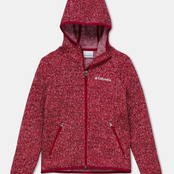 Columbia Youth Chillin Full Zip Fleece Pomegranate