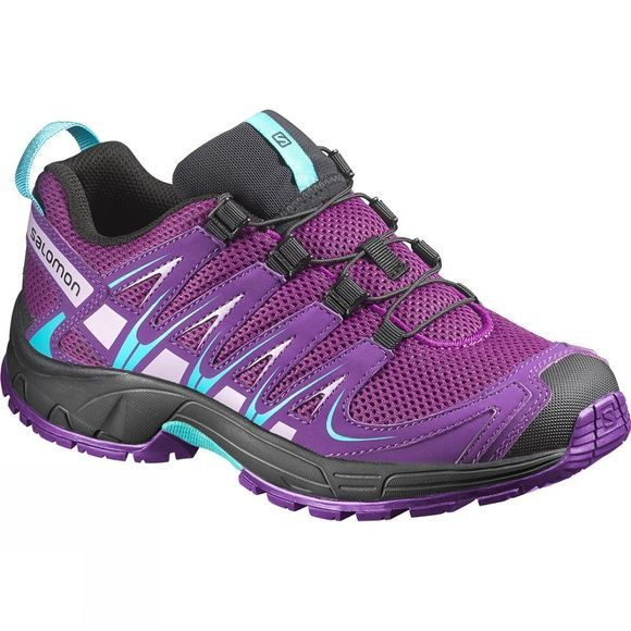 Salomon Kids XA Pro 3D Shoe Passion Purple/Cosmic Purple/Teal Blue F