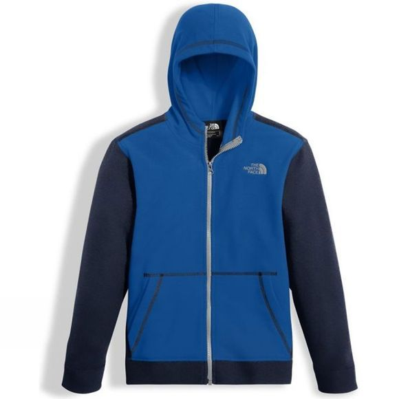 The North Face Glacier Full Zip Hoodie Age 14+ Turkish Sea/ Cosmic Blue