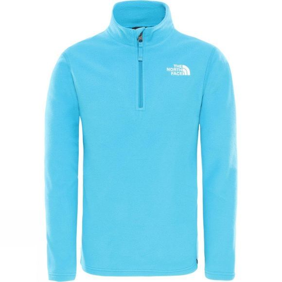 The North Face Youths Glacier 1/4 Zip Fleece Age 14+ Acoustic Blue