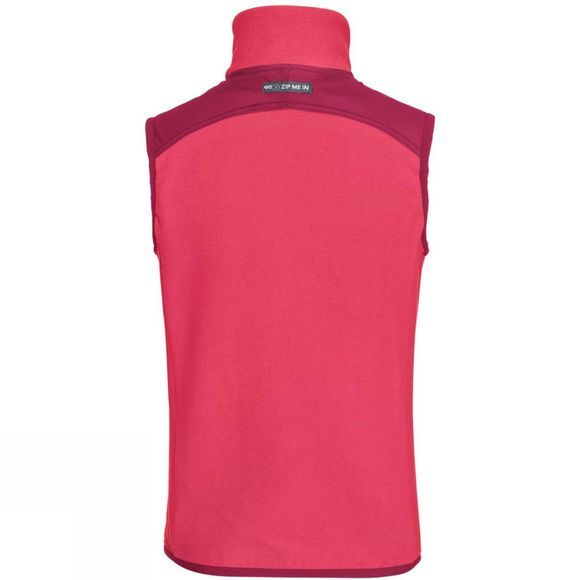 Vaude Boys Racoon Fleece Vest 14+ Bright Pink