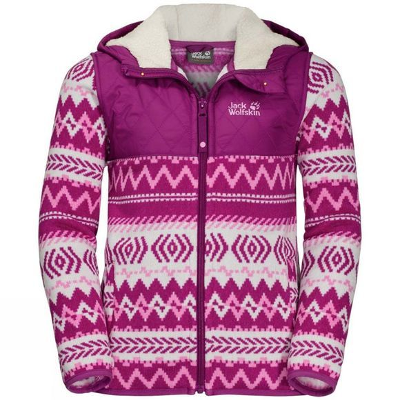 Jack Wolfskin Kids Nordic Hooded Jacket 14+Y Dark Peony All Over