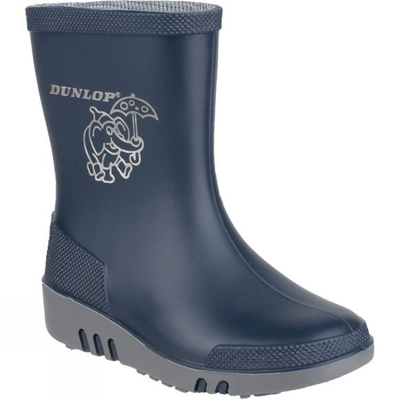 Dunlop Kids Mini Elephant Welly Blue/Grey