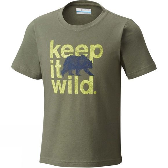 Columbia Boys Outdoor Elements Short Sleeve Tee Cypress Wild Graphic