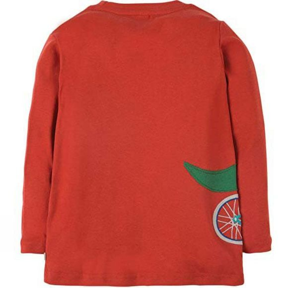 Frugi Kids Joe Applique Top Orange