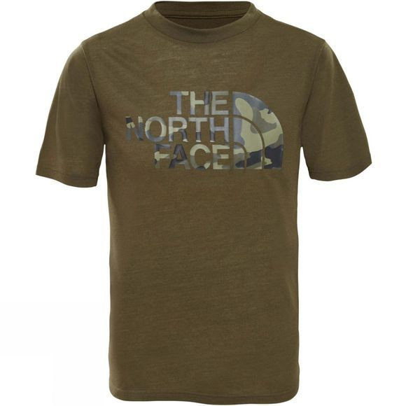 The North Face Boys Short Sleeve Reaxion 2.0 T-Shirt New Taupe Green Heather