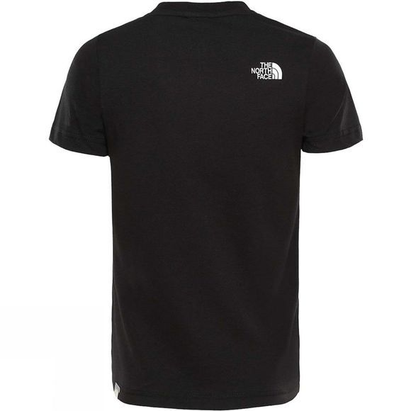 The North Face YOUTH BOX SS TEE TNF BLACK/FIERY RED