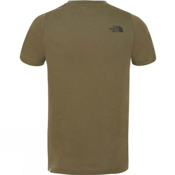 The North Face YOUTH BOX SS TEE NEW TAUPE GREEN/NEW TAUPE GREEN DESERT YOUTH PRINT