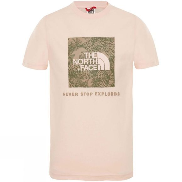The North Face Youth Box Short Sleeve Tee Pink Salt