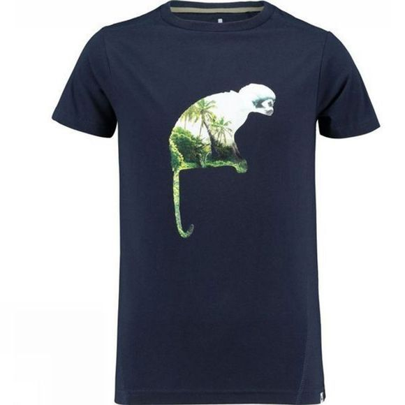 Ayacucho Childrens Alfie Monkey T-Shirt Navy