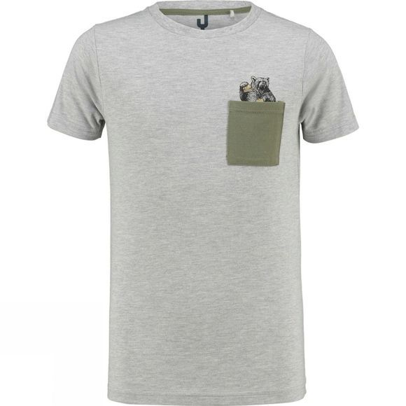 Ayacucho Childrens Alfie Pocket T-Shirt Grey Melange