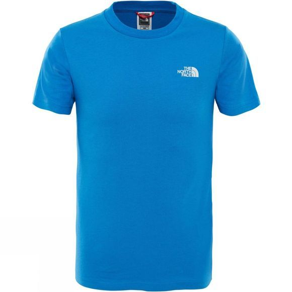 The North Face Youths Simple Dome T-Shirt Ages 14+ Turkish Sea/ High Rise Grey