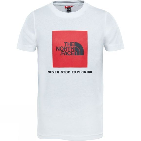 The North Face YOUTH BOX SS TEE TNF White/TNF Red