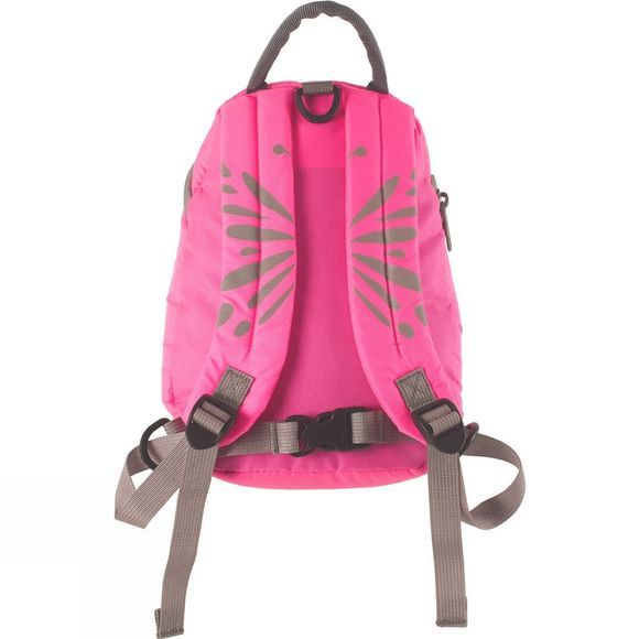 LittleLife Toddlers Butterfly Hi-Vis Rucksack Bright Pink