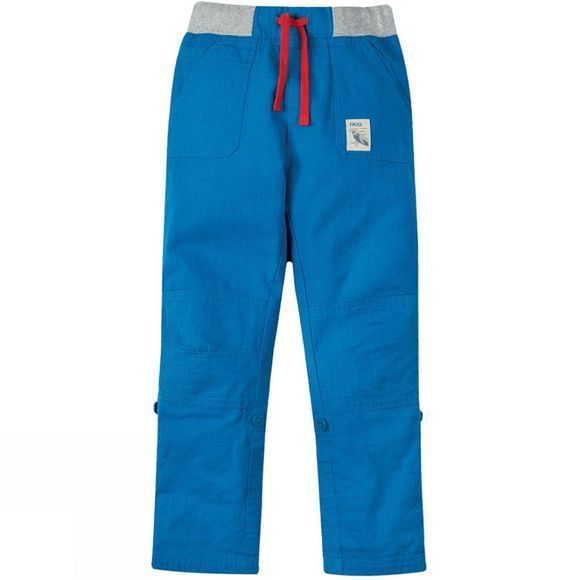 Frugi Childrens Adventure Roll Ups Trousers Sail Blue SS19
