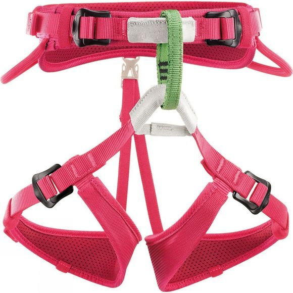 Petzl Kids Macchu Harness Raspberry