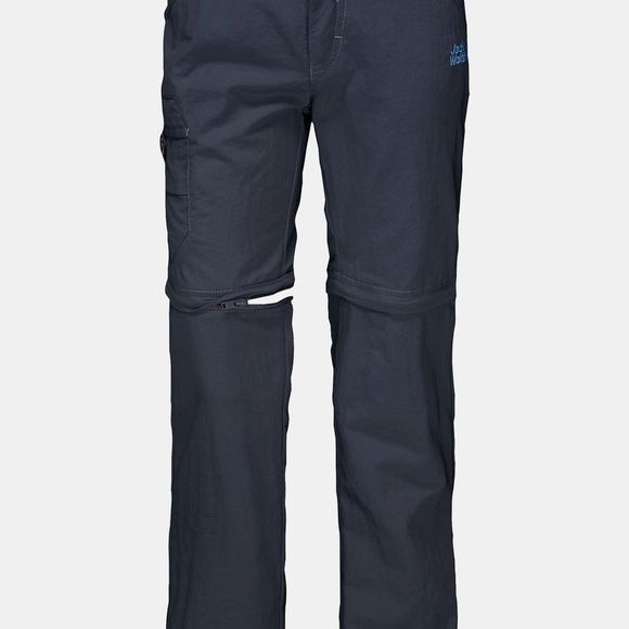 Jack Wolfskin Boys Safari Zip Off Pants 14+ Night Blue/Peacock Blue