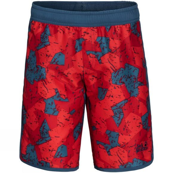 Jack Wolfskin Boys Marble Shorts Peak Red All Over
