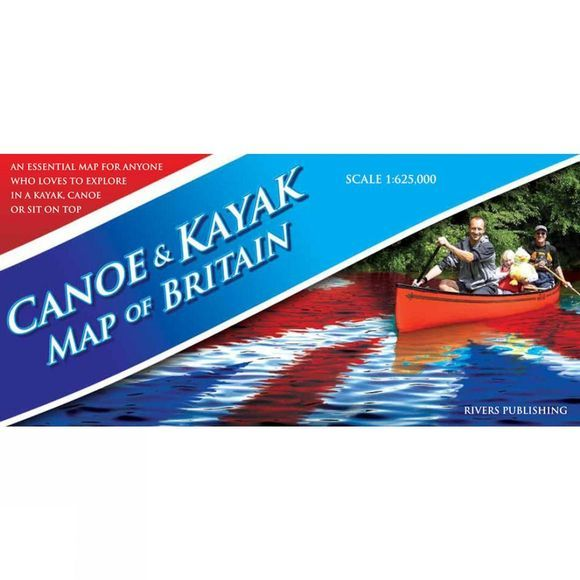 Rivers Publishing Canoe and Kayak Map of Britain No Colour