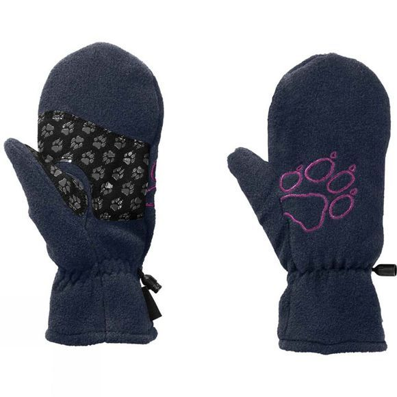 Jack Wolfskin Kids Fleece Mitten Midnight Blue
