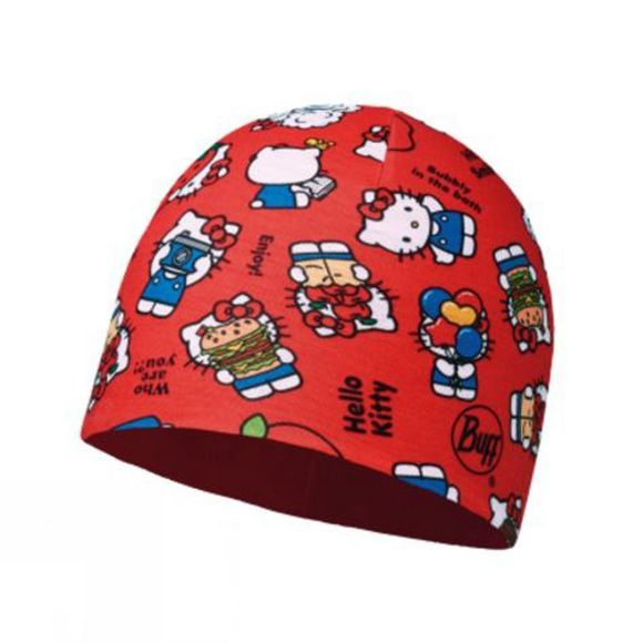 Buff Childrens Microfiber and Polar Hat Hello Kitty Foodie Red / Samba