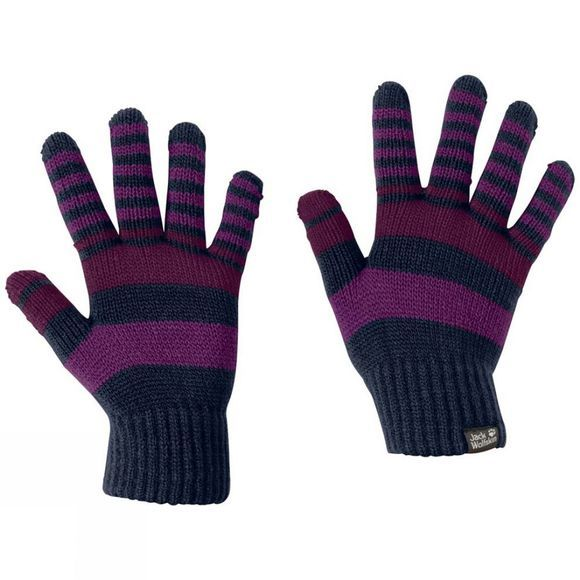 Jack Wolfskin Kids Cross Knit Gloves Midnight Blue