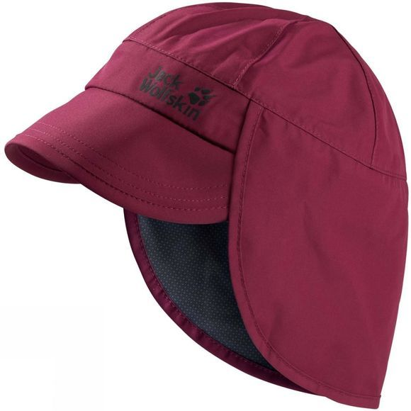 Jack Wolfskin Kids Texapore Rainy Day Hat Dark Ruby