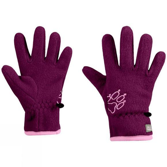 Jack Wolfskin Kids Baksmalla Fleece Glove Dark Orchid