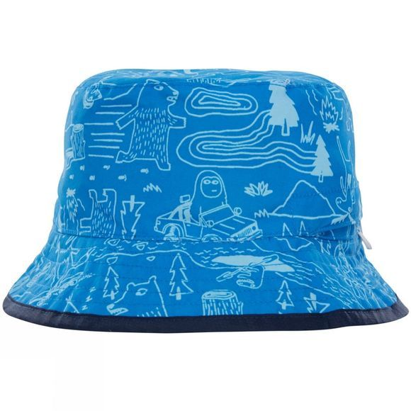 The North Face Youth Sun Stash Hat Clear Lake Blue Critter Hike Print