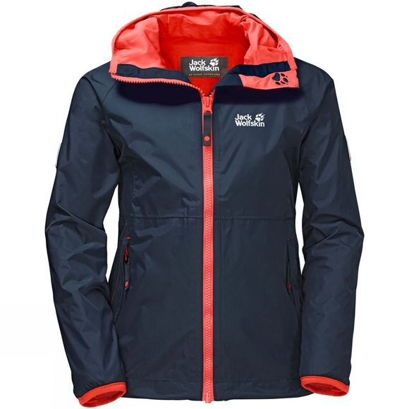 Jack Wolfskin Girls Rainy Days Jacket Midnight Blue