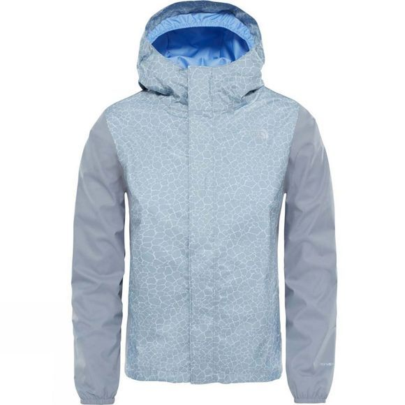 The North Face Girls Resolve Reflective Jacket Age 14+ Mid Grey Crackle Print
