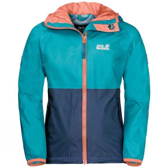 Jack Wolfskin Girls Rainy Days Jacket Lake Blue