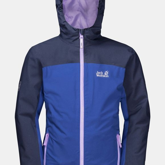 Jack Wolfskin Girls Saana 3In1 Jacket Blueberry