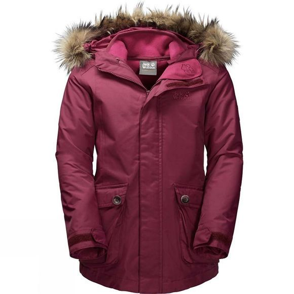 Jack Wolfskin Girls Elk Island 3-in-1 Parka 14+ Garnet Red