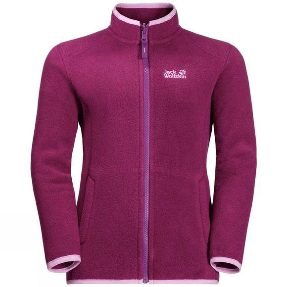Jack Wolfskin Girls Iceland 3In1 Jacket 14+Y Dark Peony