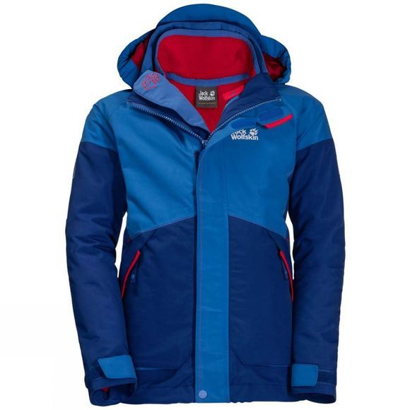 Jack Wolfskin  Boys Polar Wolf 3In1 Jacket 14+Y Coastal Blue