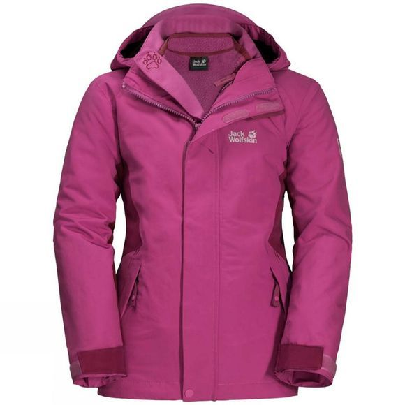 Jack Wolfskin  Girls Polar Wolf 3In1 Jacket 14+Y Fuchsia