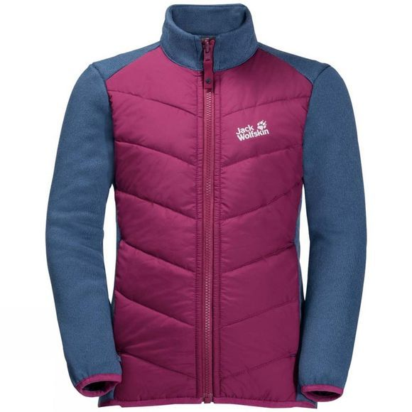 Jack Wolfskin Girls  Heljar 3In1 Jacket 14+Y Midnight Blue
