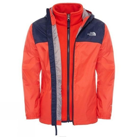 The North Face Boys Elden Rain Triclimate 14+ Fiery Red