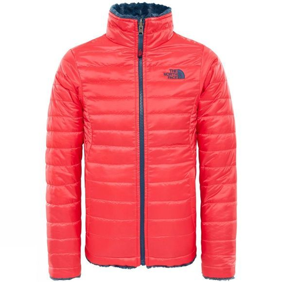 The North Face Girls Reversible Mossbud Swirl Jacket Atomic Pink