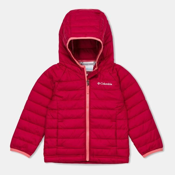 Columbia Girls Powder Lite Hooded Jacket Pomegranate/Wild Salmon Pops