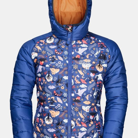 Jack Wolfskin Youths Zenon Print Jacket 14+ Blueberry All Over