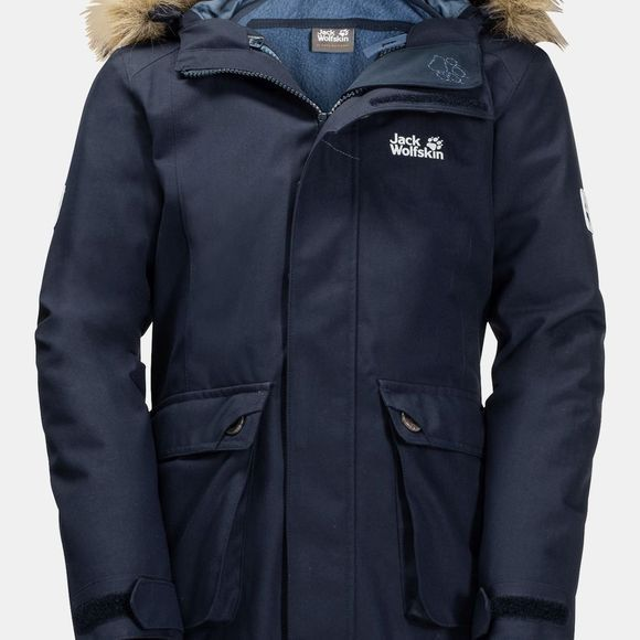 Jack Wolfskin Girls Elk Island 3In1 Parka 14+Y Midnight Blue