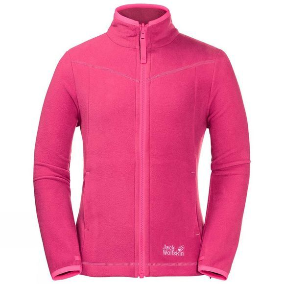 Jack Wolfskin Girls Sandpiper Fleece Tropic Pink